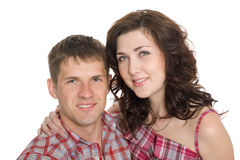 Portrait of a young couple in love. Royalty Free Stock Image