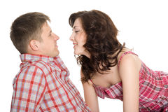 Portrait of a young couple in love. Royalty Free Stock Photo