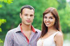 Portrait young couple love Stock Image