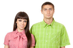The portrait of a young couple in love Stock Photos
