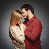 Portrait of a young couple in love Stock Images