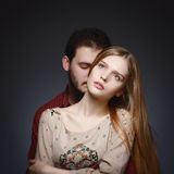 Portrait of a young couple in love Royalty Free Stock Photos