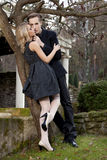 Portrait of young couple in love posing Stock Photos