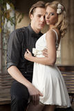 Portrait of young couple in love posing Royalty Free Stock Images