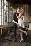 Portrait of young couple in love posing Royalty Free Stock Photos