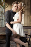 Portrait of young couple in love posing Stock Photo
