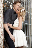 Portrait of young couple in love posing Stock Images