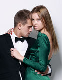 Portrait of young couple. stock photography