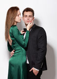 Portrait of young couple. Stock Photo