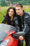 Portrait young  couple man woman Stock Photo
