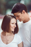 Portrait of young couple man woman girl Royalty Free Stock Photography
