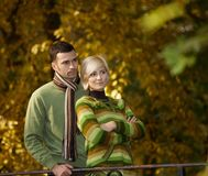 Portrait of young couple in nature Stock Photo