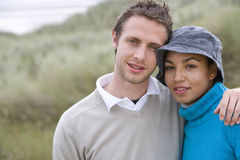 Portrait of young couple outdoors Royalty Free Stock Photos