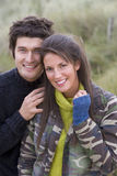 Portrait of young couple outdoors.  royalty free stock image
