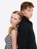 Portrait of Young couple in problems Stock Images