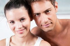 Portrait of Young Couple Royalty Free Stock Image