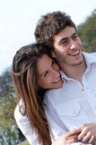 Portrait of a young couple smiling Stock Photos