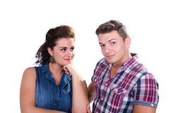 Portrait of young couple smiling Stock Photos