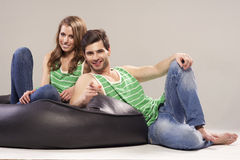 Portrait of a young couple Royalty Free Stock Photos