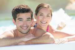 Portrait young couple in summer Royalty Free Stock Images