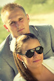 Portrait of young couple in summer Stock Photography