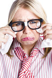 Crying businesswoman Royalty Free Stock Photos