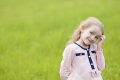 Portrait of young curious little child Royalty Free Stock Photos