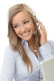 Portrait of young customer service representative Stock Photo