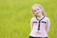 Portrait of young cute amazing child Stock Photos