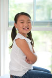 Portrait of   young cute girl Royalty Free Stock Image