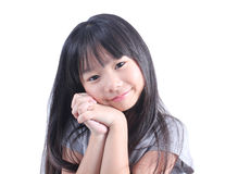 Portrait of young cute girl Stock Photos