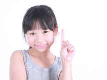 Portrait of young cute girl. Royalty Free Stock Photo