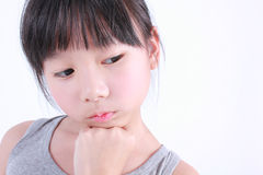 Portrait of young cute girl. Royalty Free Stock Images