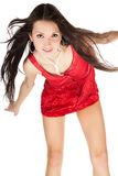 Portrait of young dancing girl Stock Photos