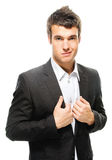 Portrait of young dark-haired man Stock Photography