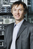Portrait of young data-center specialist Stock Image