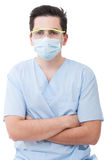 Portrait on a young dentist man Royalty Free Stock Photos