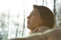 Portrait of young despair woman Royalty Free Stock Photography