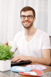 Portrait of a young developer working Royalty Free Stock Photography