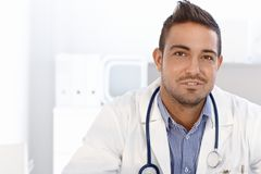 Portrait of young doctor Stock Image