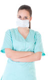 Portrait of a young doctor with mask Royalty Free Stock Photography