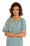 Portrait of Young Doctor or Nurse Royalty Free Stock Image