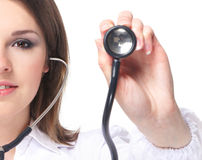 Portrait of a young doctor with a stethoscope Stock Photography