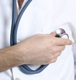 Portrait of a young doctor with stethoscope. Stock Images