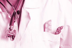 Portrait of a young doctor with stethoscope. Stock Photos