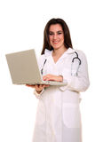 Female doctor with notebook Royalty Free Stock Photo