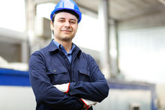 Portrait of a young electrician Stock Images