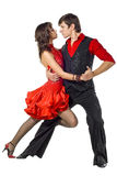 Portrait of young elegance tango dancers. Stock Images