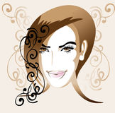 Portrait of young elegant woman Royalty Free Stock Images