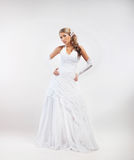 Portrait of young, emotional and beautiful bride Royalty Free Stock Photography